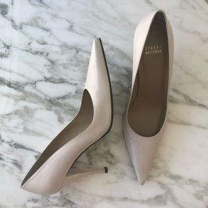 Stuart Weitzman Pale Pink Pointed Pumps